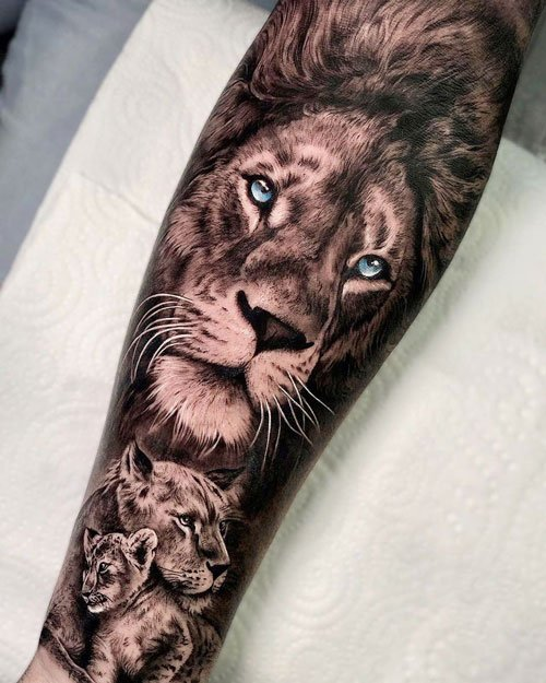 Lion Pride Family Tattoo