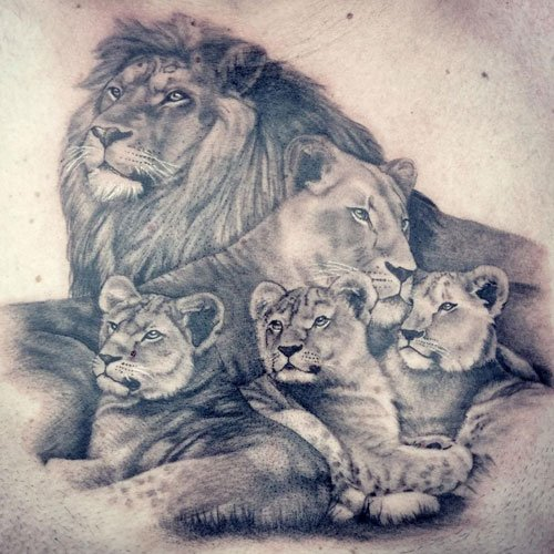 Lion Pride Tattoo Designs