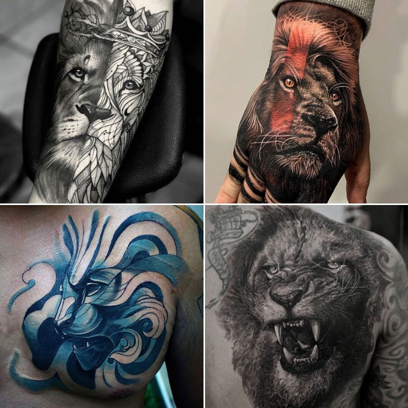 Lion Tattoos For Men