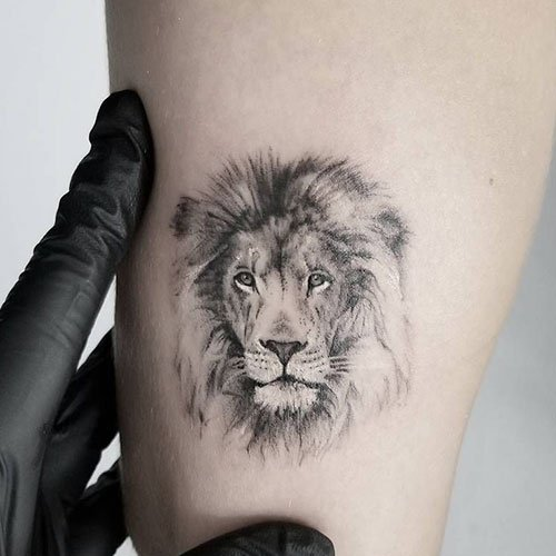 Simple Small Lion Tattoo