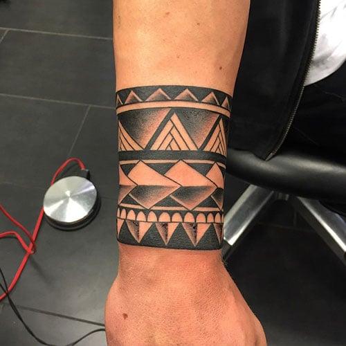Tribal Wrist Cuff Tattoos For Men