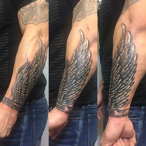 Wrap Around Wrist Tattoo Designs For Men