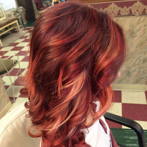 Auburn Highlights Red Hair