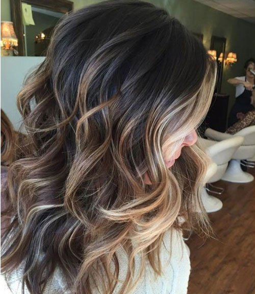 Brown Hair with Dark Blonde Highlights