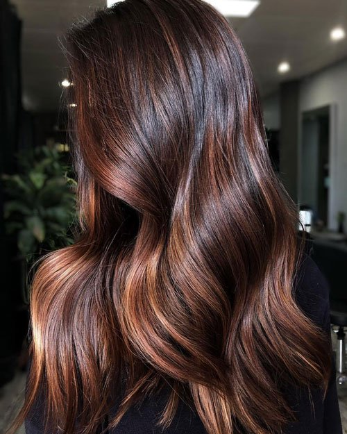 Brown Highlights on Brown Hair