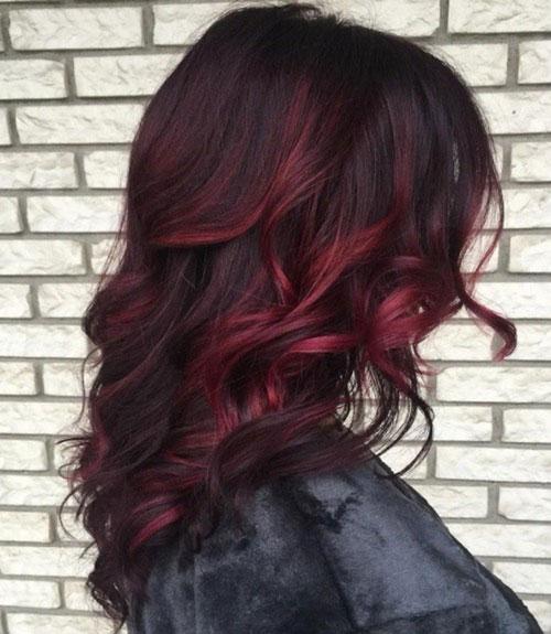 Burgundy Dark Red Hair