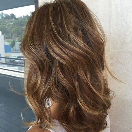 Chestnut Hair Color with Blonde Highlights