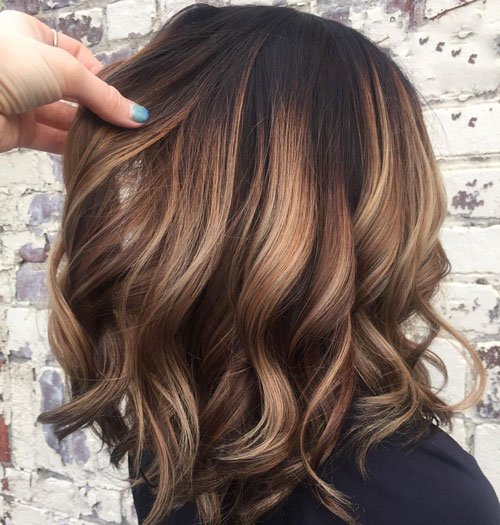 Chocolate Hair with Blonde Highlights