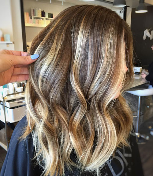 Cool Blonde Highlights on Light Brown Hair