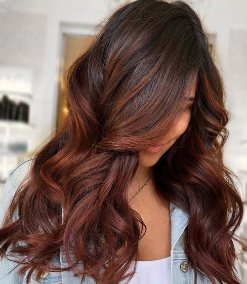 Dark Brown Hair Color with Chestnut Highlights