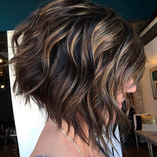 Dark Brown Hair with Dark Blonde Highlights