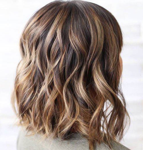 Dark Brown Hair with Light Blonde Highlights