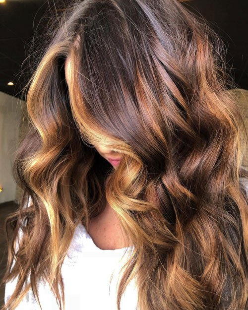 Dark Brunette with Brown Highlights
