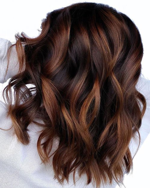 Dark Chocolate Hair with Light Chocolate Highlights