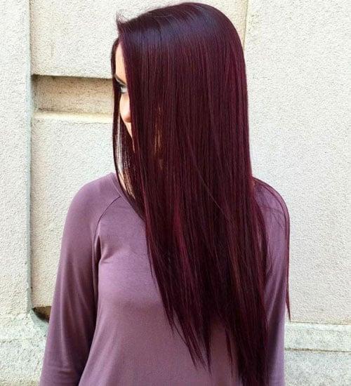 Dark Purple Red Hair