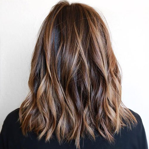 Light Brown Highlights on Dark Brown Hair