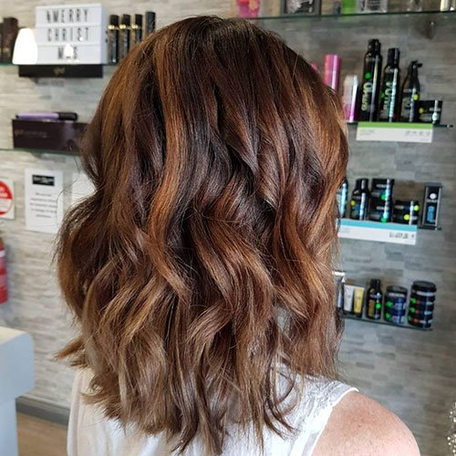 Medium Brown Highlights on Dark Brown Hair