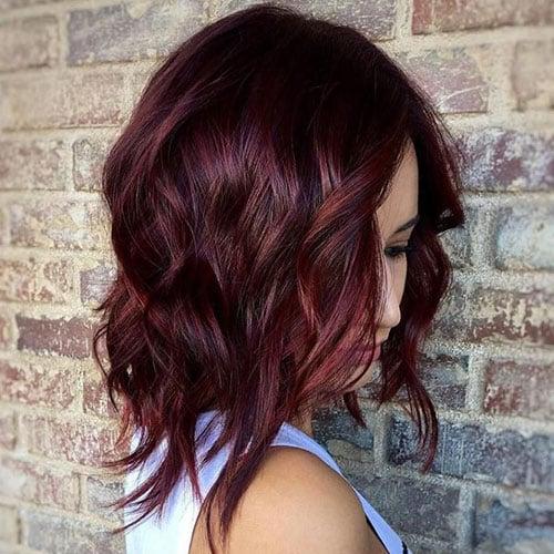Natural Dark Red Hair