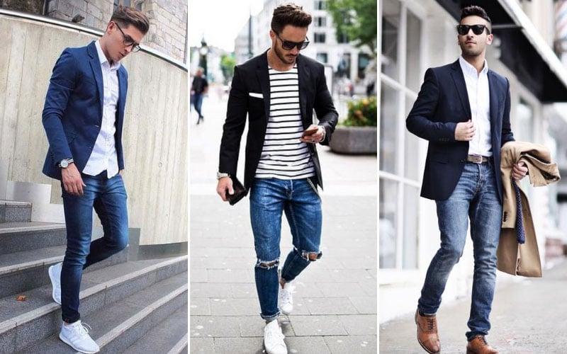 Blue Jeans with Blazer