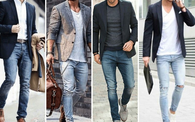 Casual Blazer with Jeans