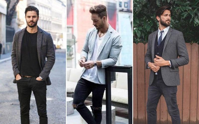 Grey Blazer with Jeans