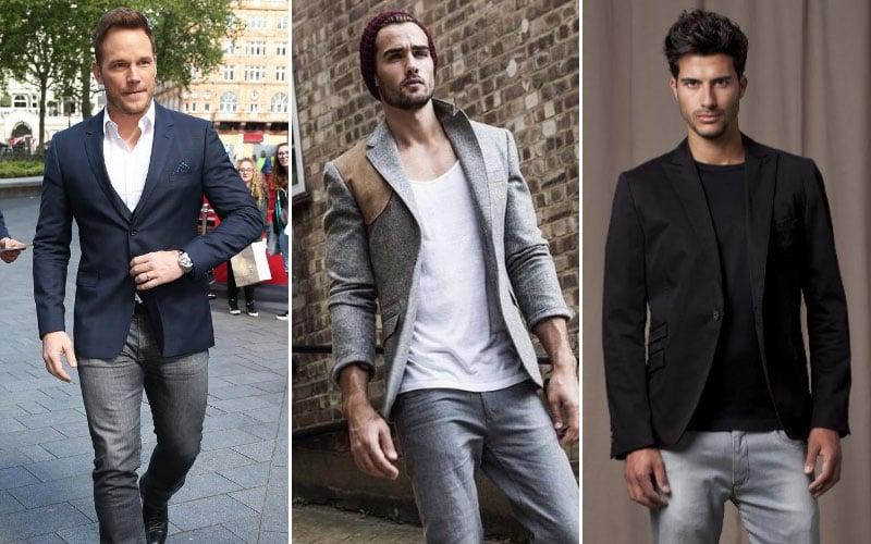 Grey Jeans with Blazer