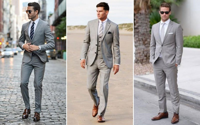 Grey Suit White Shirt