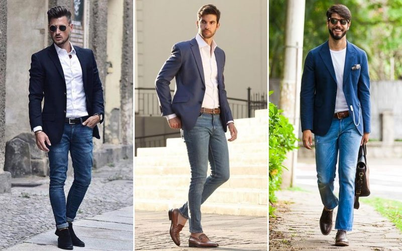 Light Jeans with Blazer