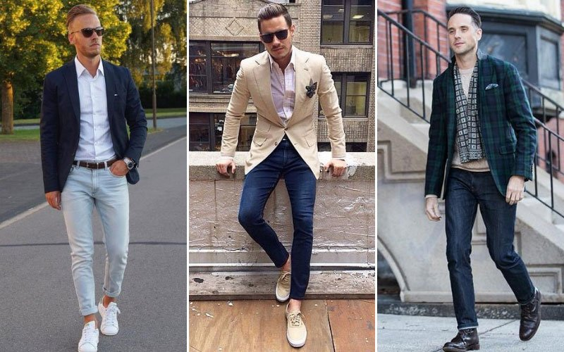 Men's Blazer and Jeans