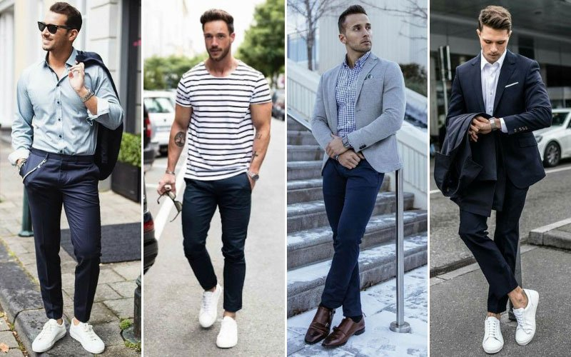 Navy Chinos Outfit Ideas