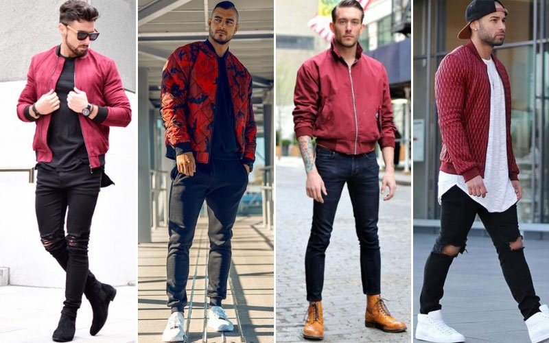 Red Bomber Jacket Outfit