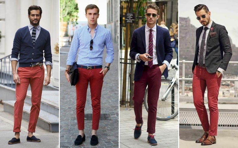 Red Chino Outfit Ideas