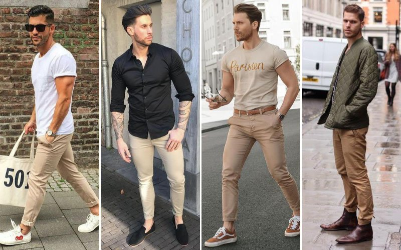 Tan Chino Outfit Ideas