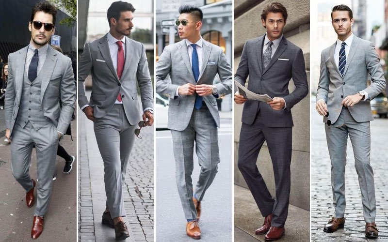 What Color Tie To Wear With A Grey Suit