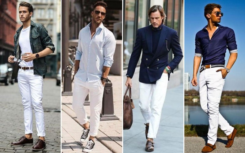 White Chino Outfit Ideas