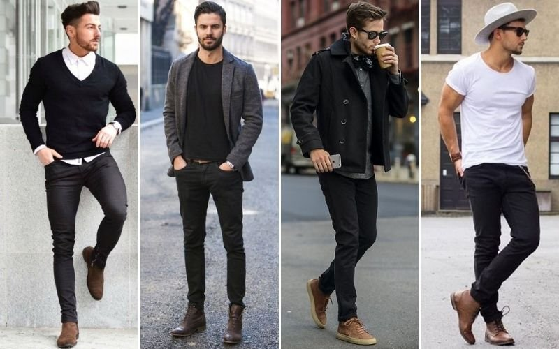Black Jeans with Brown Boots