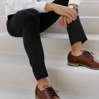 Black Pants Brown Shoes