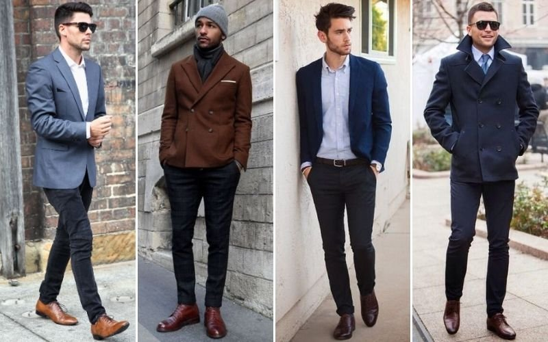 Black Pants with Brown Brogues