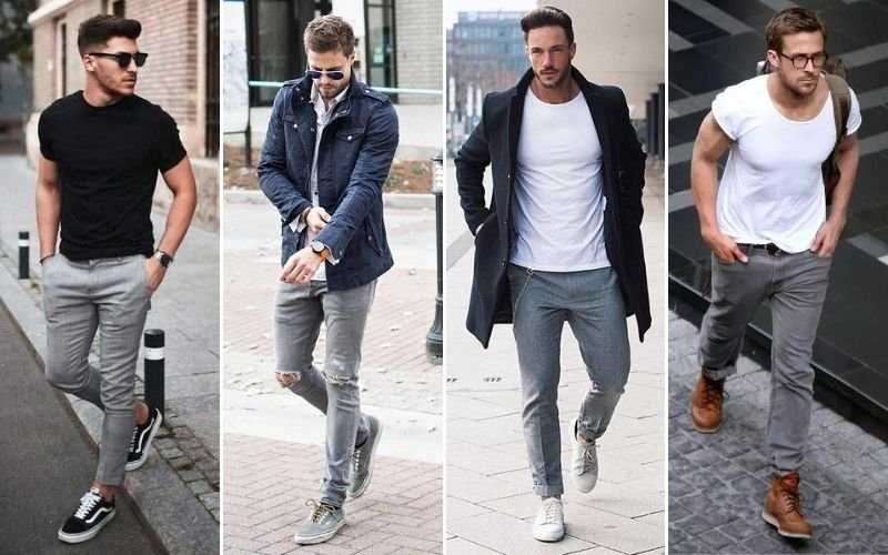 Casual Grey Pants Outfits Men