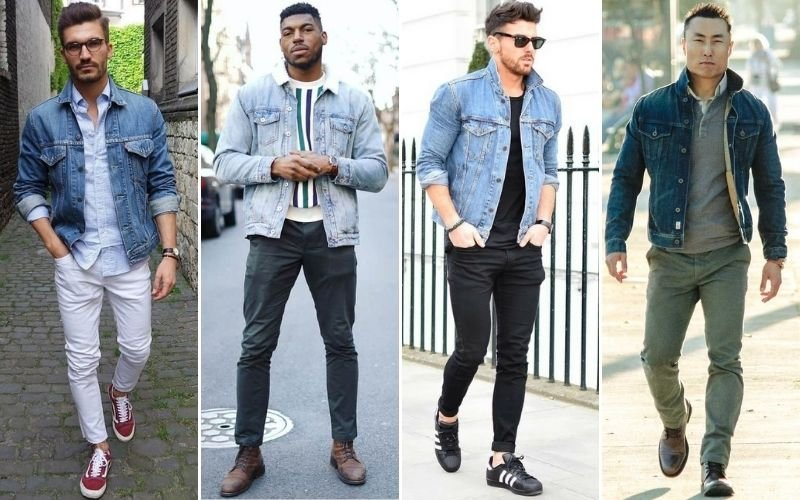 Chinos and Denim Jacket