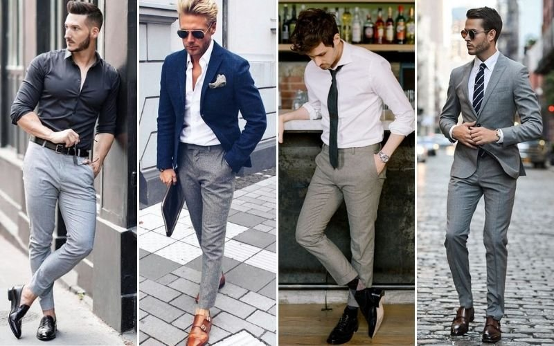 Formal Grey Pants Outfits Men