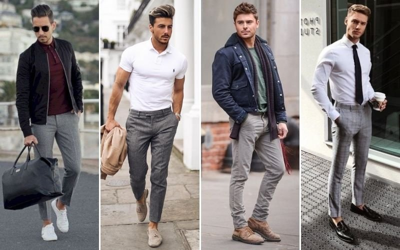 Grey Pants Outfits For Men