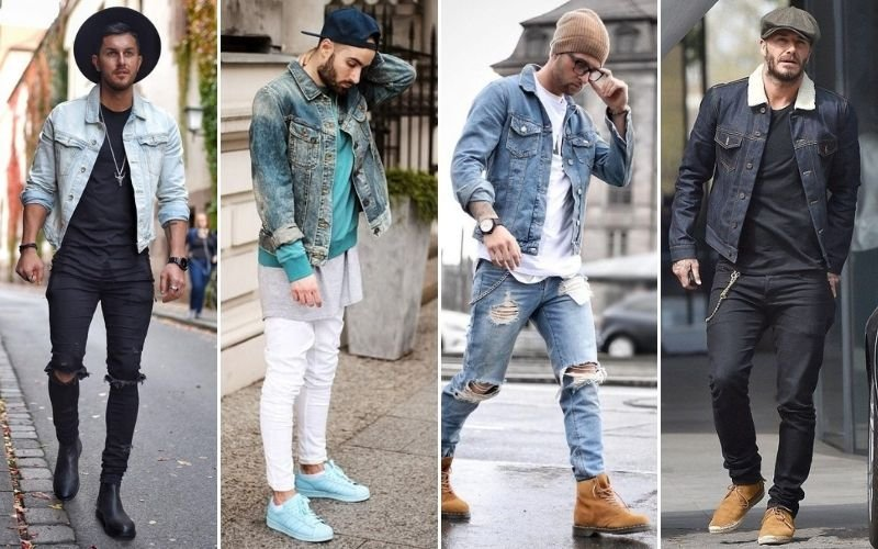 Hat and Denim Jacket Outfits