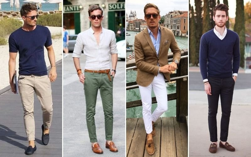 Loafers with Chinos