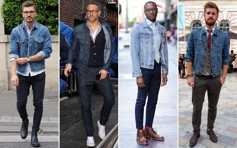 Smart Casual Denim Jacket Outfits