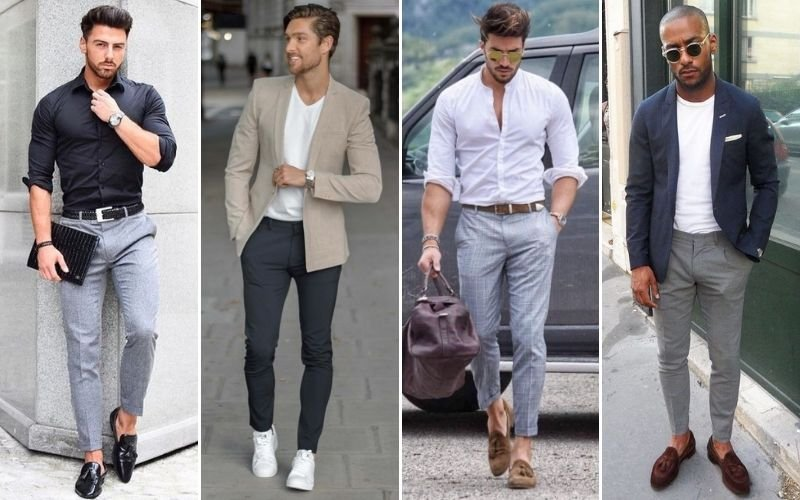 Smart Casual Grey Pants Men