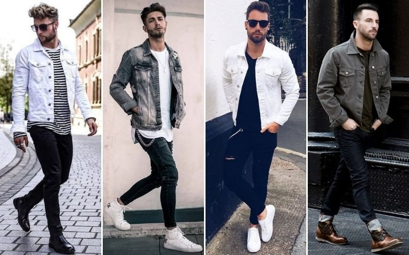 White and Grey Denim Jackets