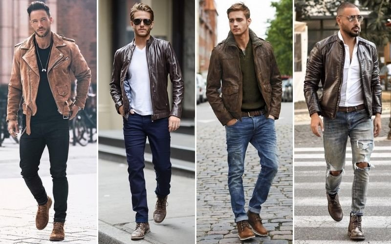 Brown Leather Jackets Men
