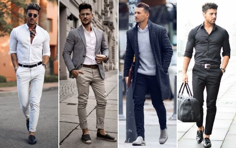 Smart Casual Shoes with Chinos Outfits