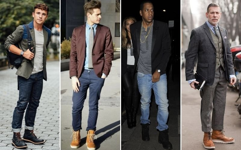 Timberland Boots with Blazers